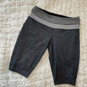 Lululemon Charcoal w/grey waistband Bike Shorts